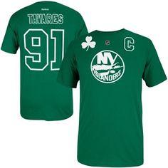 Reebok John Tavares New York Islanders St. Paddy s Name   Number T-Shirt -  Kelly Green 5fde29a8b