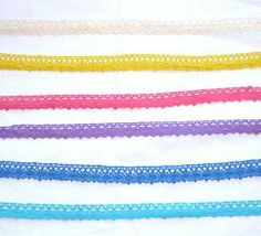 1.5cm Coloured Crocheted Lace Yard - Dorothy #craft