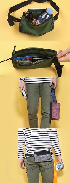 The coolest and fanciest fanny pack ever? We think so! The Weekade Fanny Pack is super well made and full of wonderful surprises! Travel Tote, Travel Packing, Best Travel Accessories, Fashion Accessories, Bazaar Ideas, Beach Ideas, Hip Bag, Backpacking Gear, Cool Style