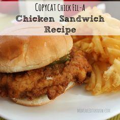 Copycat Chick Fil A Chicken Sandwich Recipe sq