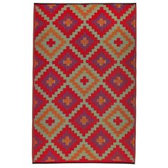 Saman Outdoor Rug in Red and Violet - 150x238cm