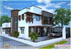 Kerala home design and floor plans: Beautiful contemporary home plan