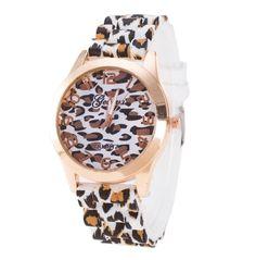 Winhurn Fashion Leopard Design Silicone Quartz Analog Unisex Wrist Watch ** See this great product.