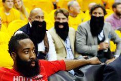 James Harden Fans in Beards