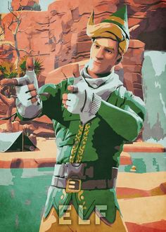 "Beautiful ""Elf"" metal poster created by Durro Art. Raiders Wallpaper, Llama Arts, Best Gaming Wallpapers, Epic Games Fortnite, Battle Royale Game, Character Poses, Thug Life, Anime, Game Art"
