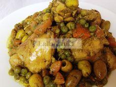 Les secrets de cuisine par Lalla Latifa - Tagine de poulet aux légumes au ThermomixTM5