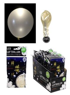 15 LED Luftballons in weiß für Hochzeit, Party - Deko, Geburtstag, für verschiedene Anlässe