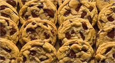 "The Perfect Chocolate Chip Cookie Recipe adapted from Jacques Torres on The New York Times. Tips: ""Let dough sit for 24-36 hours."" ""Shoot for a ration of chocolate to dough of no less than 40 to 60."" ""Salt, in the dough and sprinkled on top, adds dimension."""