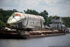 After several years of rotting in the open air on docks in Tushino, this Buran shuttle will be restored, then demonstrated at the air show MAKS-2013.'
