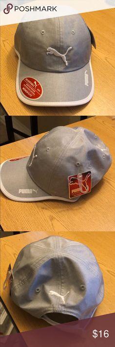 Puma gray women sport adjustable osfa Hat Cap Brand new gray puma adjustable  one size fits 62d0ad3b298e