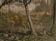 Lambeosaurus, Daspletosaurus, Parksosaurus by ABelov2014 on DeviantArt