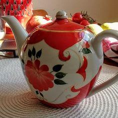 Uzbek Handpainted Porcelain Teapot