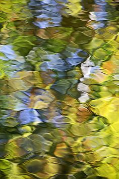 """Sycamore Mosaic"" by Christina Rollo www.rollosphotos.com. Nature abstract water reflection, beautiful colors, light and wind create this natural abstract image."