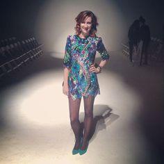 Stylist Devon Poer wearing one-of-a-kind Shail K.