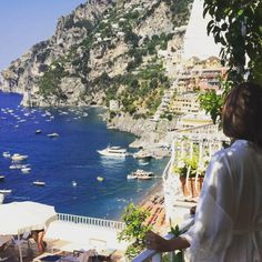 View from our honeymoon suite in Positano on the Amalfi Coast of Italy. Check out this link to learn how you can travel to Positano on a budget!