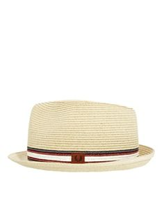 Image 4 of Fred Perry Straw Trilby Hat