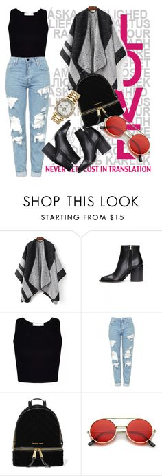 """""""School Look"""" by miny008 ❤ liked on Polyvore featuring Marni, Topshop, MICHAEL Michael Kors and Rolex"""