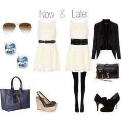now & later - little white dress from summer to fall