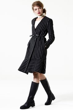 Swirling Hem Striped Coat - Jackets&Coats - Jackets/Coats - Clothing Discover the latest fashion trends online at storets.com