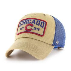 Chicago Cubs Adjustable Gaudet Clean Up Cap by Cubs Hat, Hat Patches, Buffalo Bills, Clean Up, Carhartt, Chicago Cubs, Hats For Men, Baseball Hats, Trucker Hats