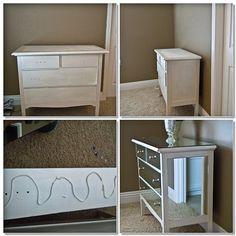 mirrored dresser DIY