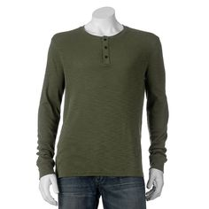Men's Apt. 9® Regular-Fit Slubbed Henley, Size: