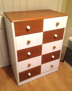 Chest of Drawers. Large Drawers, Chest Of Drawers, Cupboard, Cabinet, My Ebay, Upcycle, Dresser, Hand Painted, Contemporary