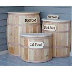Dog Pet Food Container - cute & country