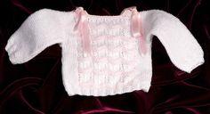 Jersey perlé blanco y rosa. ref. 322 - BLANCA RUBIO