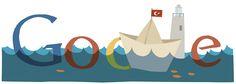 Cabotage and Turkish Maritime Festival [Каботажные перевозки и морской фестиваль в Турции] /This doodle was shown: 01.07.2011 /Countries, in which doodle was shown: Turkey
