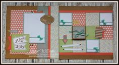 layout by Susan Williams using CTMH Zoe paper... with folding photo gallery