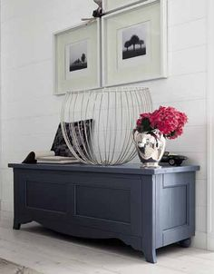 Cassapanca-laccata-cartadazucchero Chalk Paint Furniture, Painted Doors, Home Staging, Decoration, House Colors, Sweet Home, New Homes, Interior Design, Storage