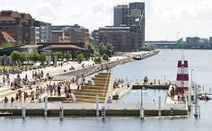 The Copenhagen harbor in Denmark is one of the trendiest public swimming places in the city. It is a place that residents and tourists can enjoy during the summer months. This can be attributed to the municipalities effort at improving the recreational environment of the city. 15 years ago, this water was too contaminated to swim in. Thanks to investments in waste water treatment, it has become the most popular public swimming area in the city.
