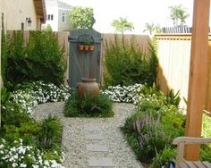 gezellige kleine tuin