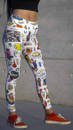This item is unavailable Sketchbook Drawings, Running Pants, Yoga Leggings, Printed Leggings, Innovation Design, Stamp, Canvas Prints, Stylish, Fabric