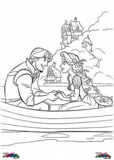 Tangled Coloring pages - Tangled0023