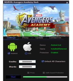 Our tool offers you unlimited Credits and Shards what gives so many possibilities …   DOWNLOAD: http://mobile-games-hack.com/marvel-avengers-academy-hack-androidios/
