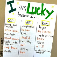 "A fun St. Patrick's Day craftivity where students reflect on what makes them ""lucky"". The power of reflection is huge. Teach students the art of reflection. A great growth mindset project."