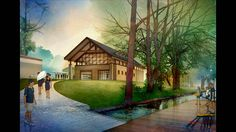 Digital Watercolor Rendering Technique in Adobe Photoshop   Watercolor graphics are often a crowd pleaser. But how do you take a sketchup model, site photos, tracings, and scans, and turn them into professional-quality watercolor imagery? Here's your answer!