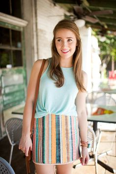 Summery Stripes | how to style a striped skirt | how to style a tank top | summer fashion | summer style | fashion for summer | style ideas for summer | warm weather fashion | fashion tips for summer || a lonestar state of southern