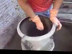 Como se produz um vaso de cimento - YouTube