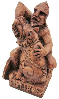 Tyr is `the invincible warrior of the Nordic pantheon, and far older than all the others of Asgard.` Tyr is the god of single combat, victory and heroic glory in Norse mythology. Tolkien, Icelandic Runes, Statues, Monuments, Norway Viking, Viking Art, Viking Books, Germanic Tribes, Viking Culture
