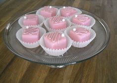 Faux Petit Fours made from foam and Spackle.  (Fake Cake) (Faux Cake) (Faux Petit Fours)