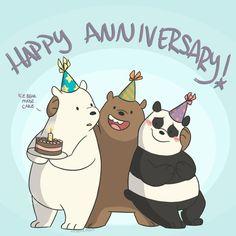 by Bare Bears 🛍️ We Bare Bears Wallpapers, Panda Wallpapers, Cute Wallpapers, Ice Bear We Bare Bears, We Bear, Bear Wallpaper, Emoji Wallpaper, Cute Couple Cartoon, Bear Birthday