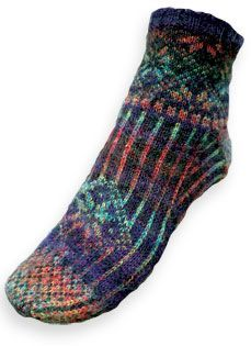 A beautiful sock pattern for me (yeah right.) - Nordic Lights Socks from Spindlicity Knitting Videos, Knitting Stitches, Free Knitting, Knitting Projects, Knitting Socks, Knitting Patterns, Crochet Socks, Knit Crochet, Knit Socks
