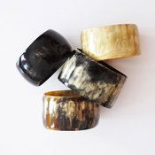 Cow horn bangles. Love it; not sure what NZ customs would make of it though...
