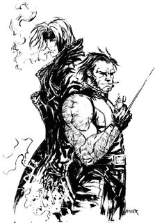 Gambit and Wolverine by Aaron Minier