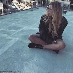 Hailey Baldwin stuns in semi-sheer off-the-shoulder black mini dress in LA while BFFs Kendall and Hadid sisters party in Paris after VS fashion show Kendall Et Kylie, Kendall Jenner Body, Kendall Jenner Outfits, Hailey Baldwin News, Hailey Baldwin Style, Haley Baldwin, Kim Basinger, Vanessa Bruno, Vogue Paris