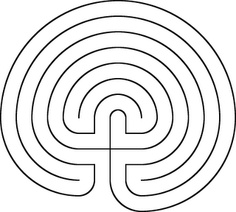7. Prehistory - The Labyrinth - This is a variant of the spiral and was probably linked to a initiatory rite in which sacred doctrines were imparted. A modern revival of the symbol emanating from Grace Cathedral in San Francisco,  considers walking the labyrinth to be an aid to meditation and self-knowledge.