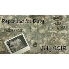 Pregnancy announcement military